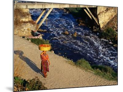 Walking Home from Market, Zunil, Guatemala-Sandy Ostroff-Mounted Photographic Print