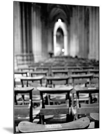 Church Pews, Interior National Cathedral-Walter Bibikow-Mounted Photographic Print