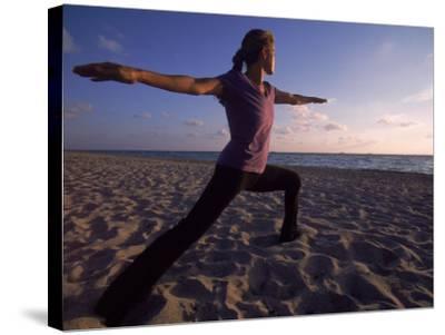 Woman Doing Yoga, Miami, FL-Cheyenne Rouse-Stretched Canvas Print