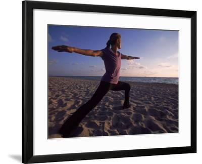 Woman Doing Yoga, Miami, FL-Cheyenne Rouse-Framed Photographic Print