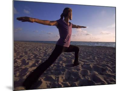 Woman Doing Yoga, Miami, FL-Cheyenne Rouse-Mounted Photographic Print