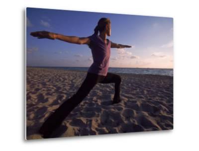 Woman Doing Yoga, Miami, FL-Cheyenne Rouse-Metal Print