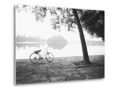 Bicycle and Bay Mau Lake Lenin Park-Walter Bibikow-Metal Print