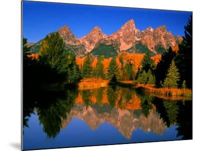 Teton Range in Autumn, Grand Teton National Park, WY-Russell Burden-Mounted Photographic Print