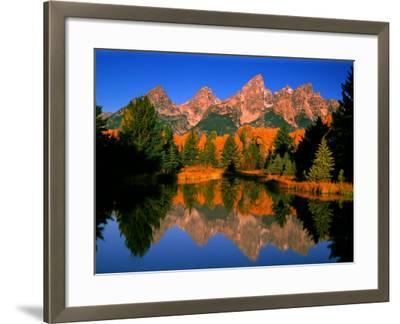 Teton Range in Autumn, Grand Teton National Park, WY-Russell Burden-Framed Photographic Print