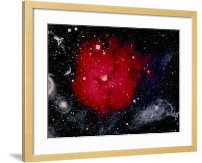 Stars and Nebula-Terry Why-Framed Photographic Print
