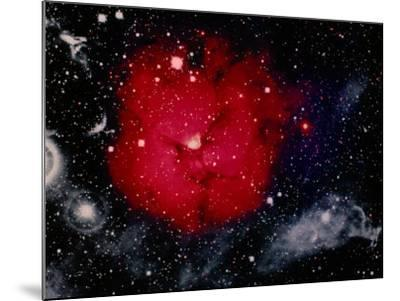 Stars and Nebula-Terry Why-Mounted Photographic Print