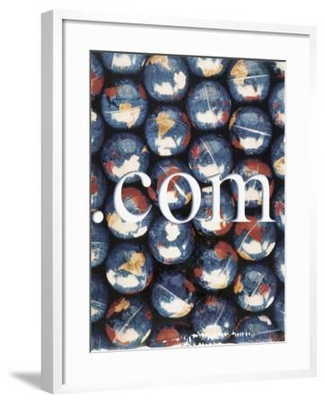 Com with Background of Globes-Robert Cattan-Framed Photographic Print