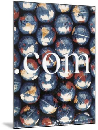 Com with Background of Globes-Robert Cattan-Mounted Photographic Print