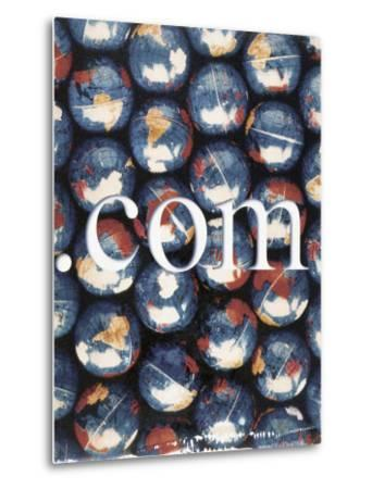 Com with Background of Globes-Robert Cattan-Metal Print