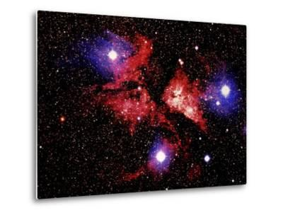 Nebula and Stars-Terry Why-Metal Print