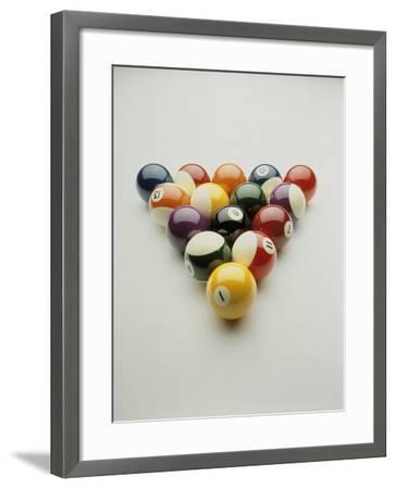 Pool Balls Racked Up-Howard Sokol-Framed Photographic Print