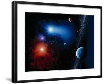Space Illustration Titled Novae Stella-Ron Russell-Framed Photographic Print