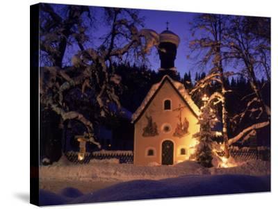 Christmas Chapel Model, Bavaria, Germany-David Ball-Stretched Canvas Print