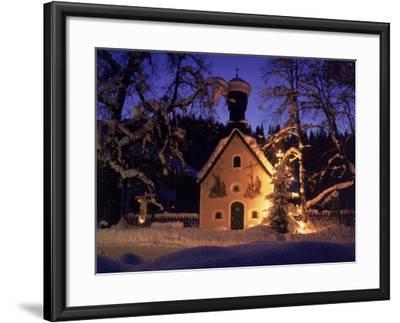 Christmas Chapel Model, Bavaria, Germany-David Ball-Framed Photographic Print