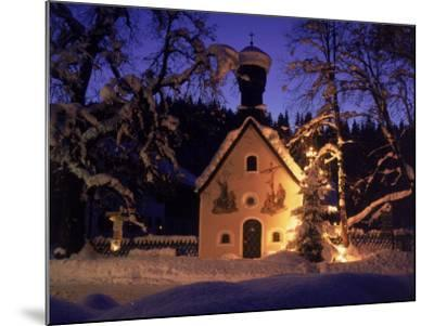 Christmas Chapel Model, Bavaria, Germany-David Ball-Mounted Photographic Print
