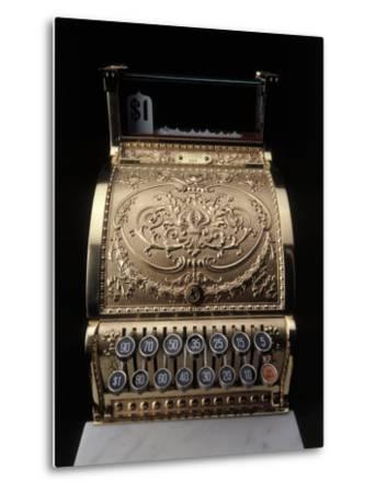 Antique Cash Register-Howard Sokol-Metal Print