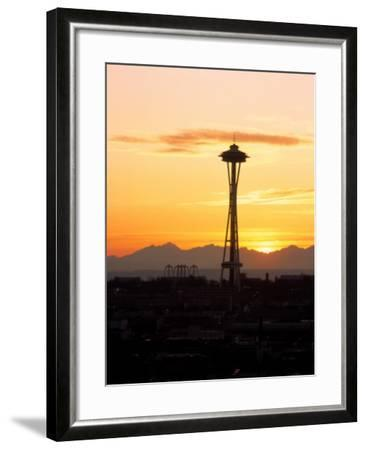 Seattle Space Needle, WA-George White Jr^-Framed Photographic Print