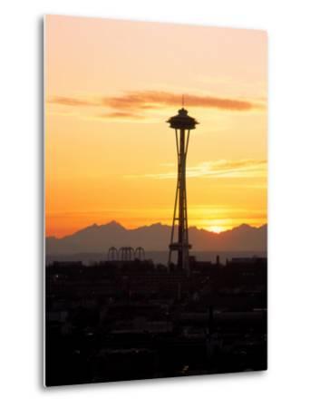 Seattle Space Needle, WA-George White Jr^-Metal Print