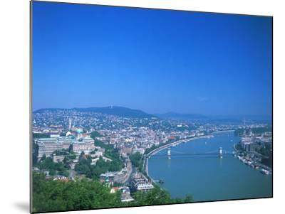 Aerial View of Gellert Hill, Budapest, Hungary-David Ball-Mounted Photographic Print