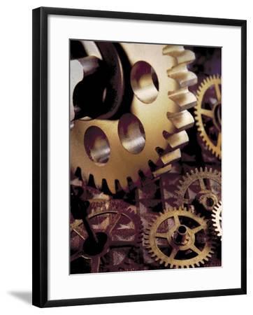 Large Gear Over Smaller Ones-Ellen Kamp-Framed Photographic Print