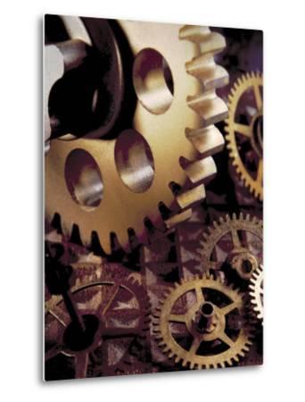 Large Gear Over Smaller Ones-Ellen Kamp-Metal Print