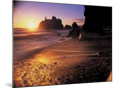 Ruby Beach at Sunset-Peter Adams-Mounted Photographic Print