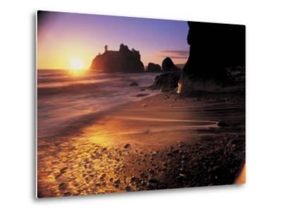 Ruby Beach at Sunset-Peter Adams-Metal Print