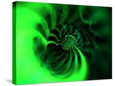 Abstract Green Design-Albert Klein-Stretched Canvas Print