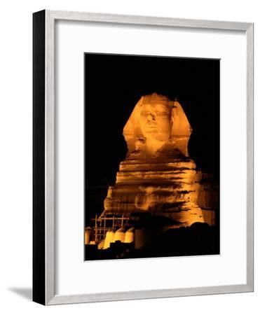 The Great Sphinx Illuminated at Night-Richard Nowitz-Framed Photographic Print