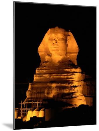 The Great Sphinx Illuminated at Night-Richard Nowitz-Mounted Photographic Print