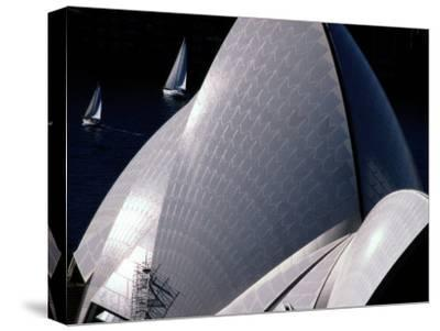 Elevated View of the Sydney Opera House-Paul Chesley-Stretched Canvas Print