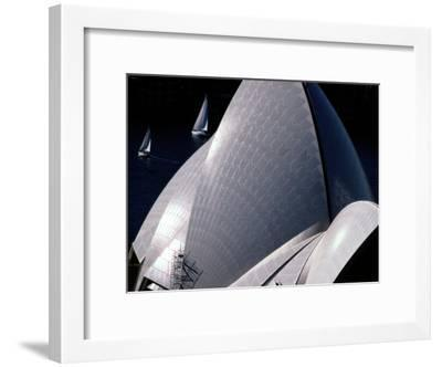 Elevated View of the Sydney Opera House-Paul Chesley-Framed Photographic Print
