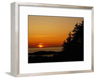 Sunset over a Northern Lake-Raymond Gehman-Framed Photographic Print
