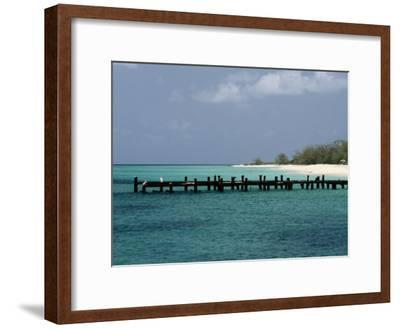 An Old Pier on Grand Turk Island-Wolcott Henry-Framed Photographic Print