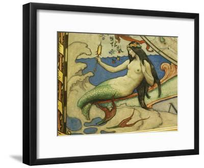 A Close View of N.C. Wyeths Map of Discovery of the Western Hemisphere-Stephen St^ John-Framed Photographic Print