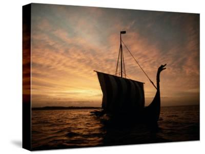 Viking Ship Replica-Ted Spiegel-Stretched Canvas Print