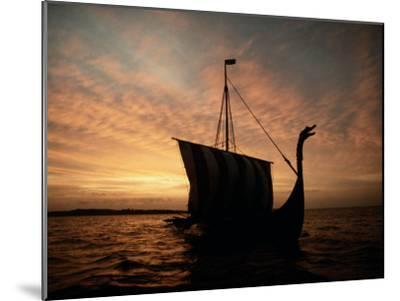 Viking Ship Replica-Ted Spiegel-Mounted Photographic Print