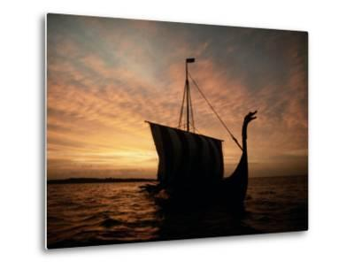 Viking Ship Replica-Ted Spiegel-Metal Print