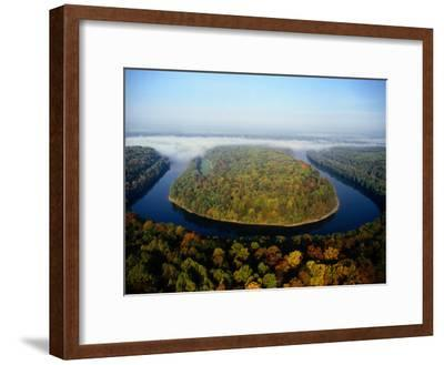 The Potomac River Makes a Hairpin Turn Through the Forest-Sam Abell-Framed Photographic Print