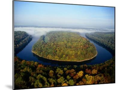 The Potomac River Makes a Hairpin Turn Through the Forest-Sam Abell-Mounted Photographic Print