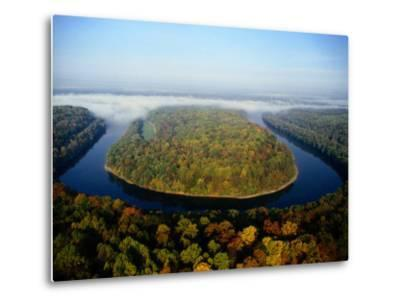 The Potomac River Makes a Hairpin Turn Through the Forest-Sam Abell-Metal Print