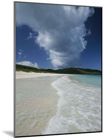 A Strip of Cumulous Clouds Follows This Receding, Tropical Shoreline-Michael Melford-Mounted Photographic Print