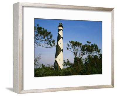 View of Cape Lookout Lighthouse-Stephen Alvarez-Framed Photographic Print