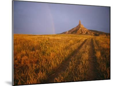 Scenic View of Western Nebraska Landscape Along the Oregon Trail-Michael S^ Lewis-Mounted Photographic Print
