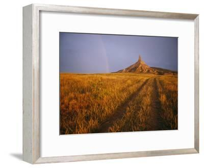 Scenic View of Western Nebraska Landscape Along the Oregon Trail-Michael S^ Lewis-Framed Photographic Print