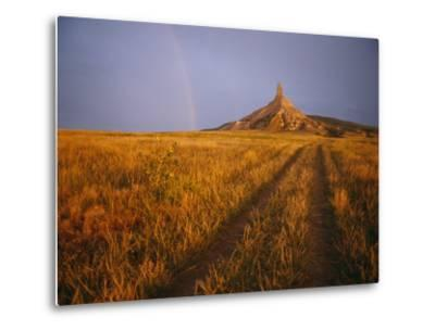 Scenic View of Western Nebraska Landscape Along the Oregon Trail-Michael S^ Lewis-Metal Print