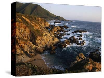 Crashing Surf on the Rocky Coast of California-Sisse Brimberg-Stretched Canvas Print