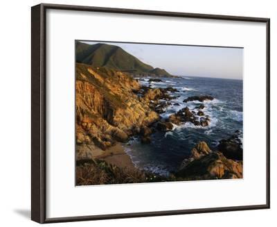 Crashing Surf on the Rocky Coast of California-Sisse Brimberg-Framed Photographic Print