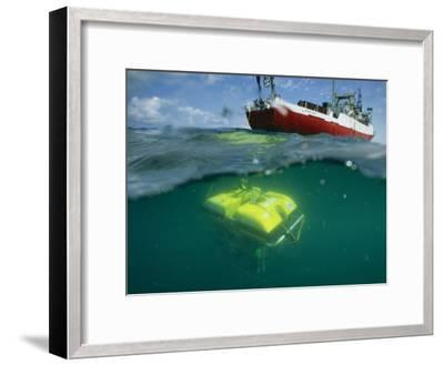 An Unmanned Submersible Conducts Research in the Black Sea-Randy Olson-Framed Photographic Print